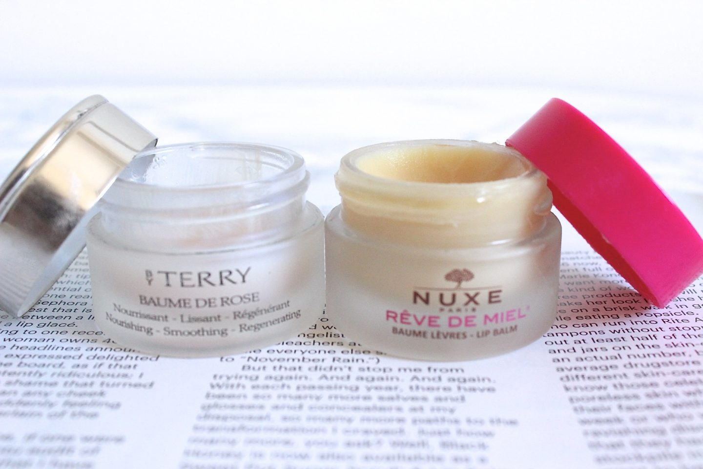 Nuxe Reve De Miel and By Terry Baume de Rose