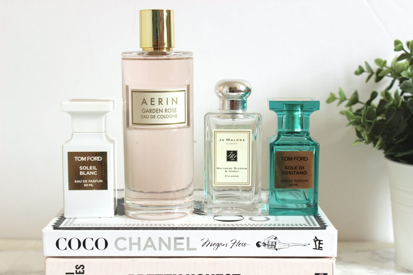 Summe Scents, Aerin Garden Rose, Tom Ford, Soleil Blanc, Tom Ford Sole Di Positano, Jo Malone Nectarine Blossom & Honey